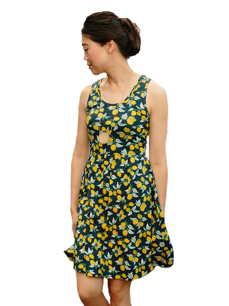 Yellow Sprinkles Dress Party Dress Gift For Her Fitted Dress Original Design Occasion Dress